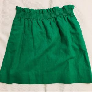 J. CREW - Sidewalk mini skirt in Kelly green